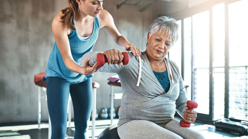 Ejercicios que puede realizar un paciente con osteoporosis
