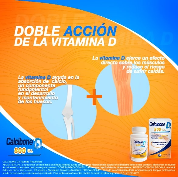 Doble acción de la vitamina D - Calcibone