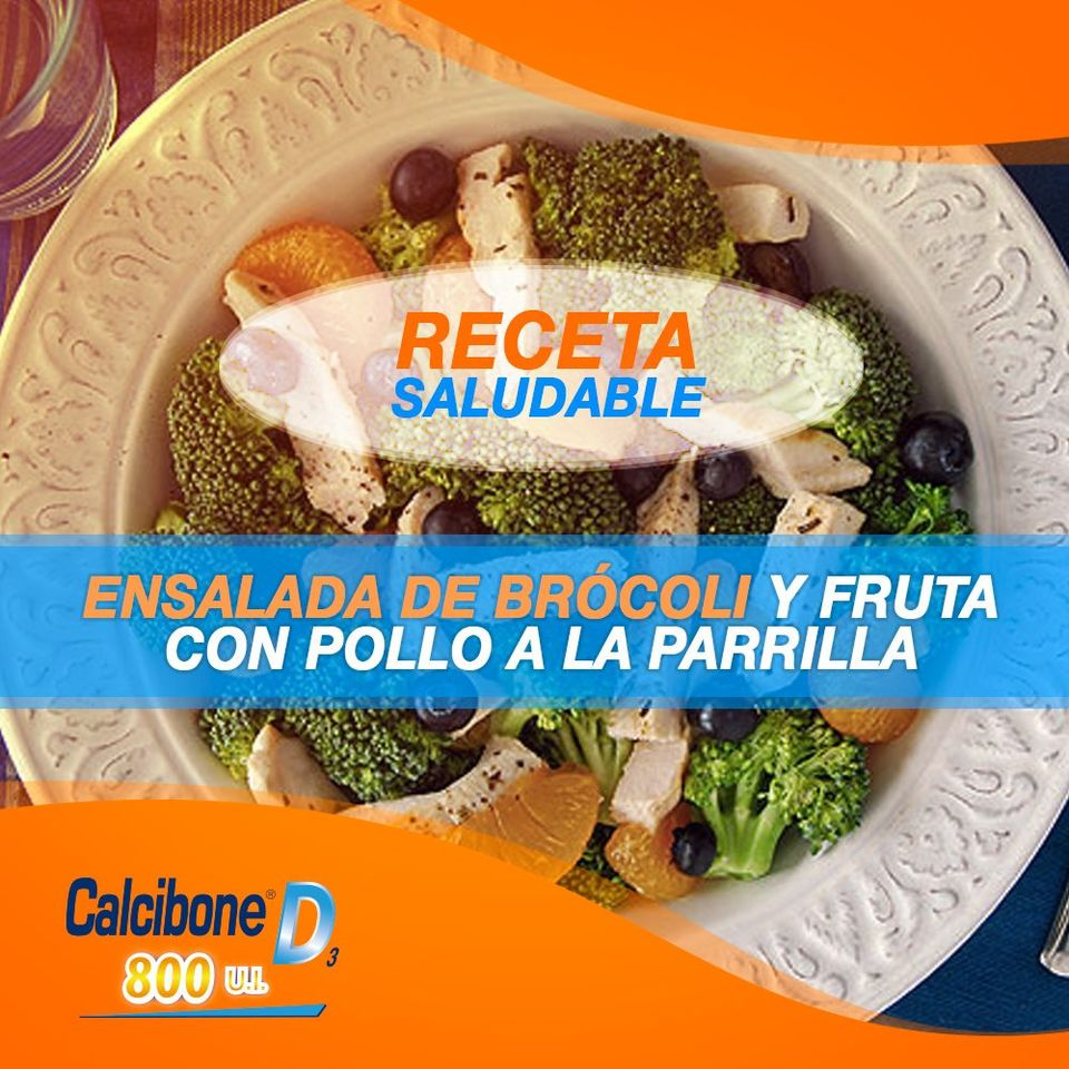Ensalada de brócoli y frutas - Calcibone