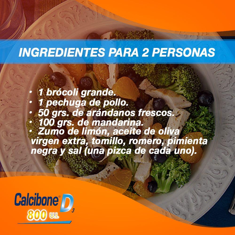 Ingredientes de la Ensalada de brócoli y frutas - Calcibone