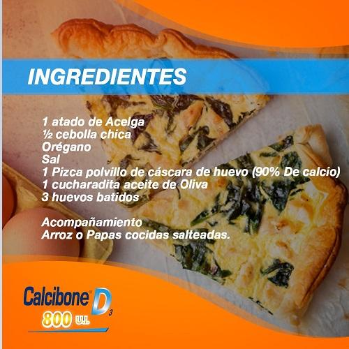 Ingredientes de tortilla de Acelga - Calcibone