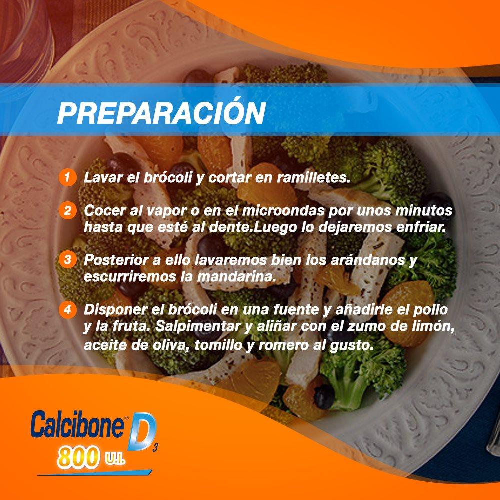 Preparativos de la ensalada de brócoli y frutas - Calcibone