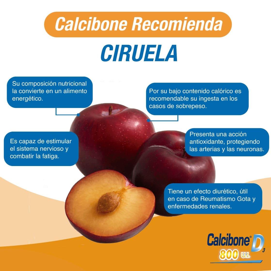 Calcibone recomienda ciruela- Calcibone D
