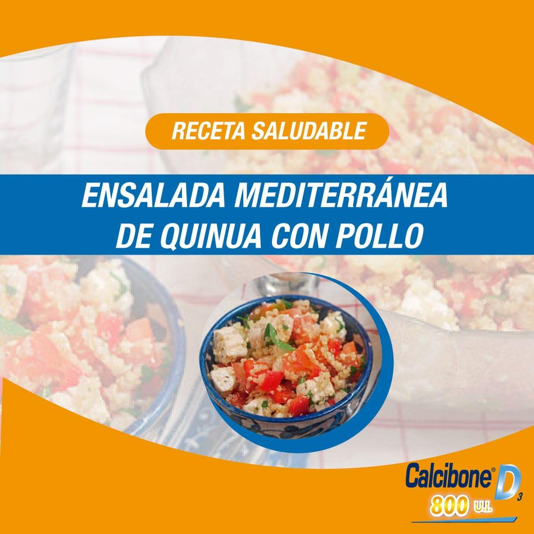 Ensalada mediterránea de quinua con pollo - Calcibone D
