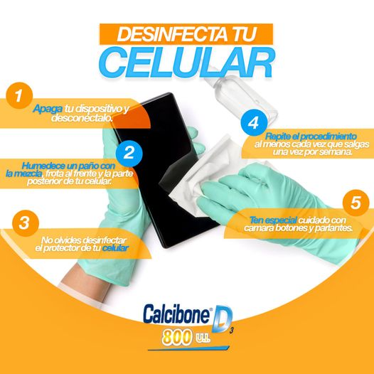 Recomendaciones saludables: Desinfecta tu celular